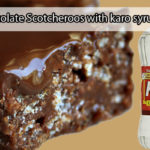 Chocolate Scotcheroos with karo syrup